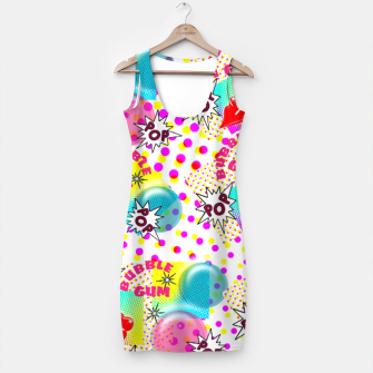 Thumbnail image of Fun Funky Bubble Gum Comic Pop Art  Simple Dress, Live Heroes