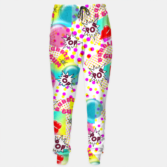 Thumbnail image of Fun Funky Bubble Gum Comic Pop Art  Sweatpants, Live Heroes