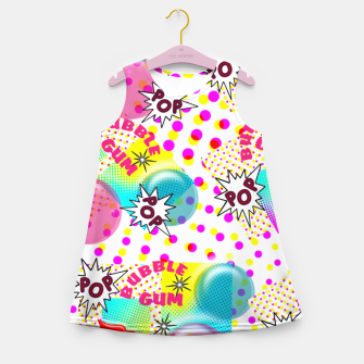Thumbnail image of Fun Funky Bubble Gum Comic Pop Art  Girl's Summer Dress, Live Heroes