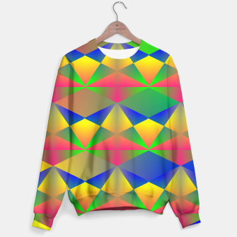 Thumbnail image of Geometric Rainbow Glow  Sweater, Live Heroes