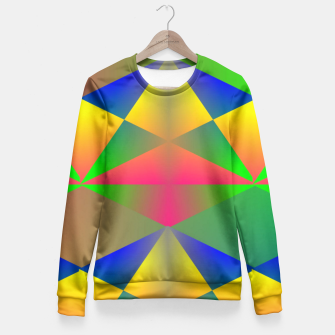 Thumbnail image of Geometric Rainbow Glow  Fitted Waist Sweater, Live Heroes