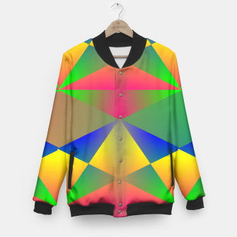 Thumbnail image of Geometric Rainbow Glow  Baseball Jacket, Live Heroes
