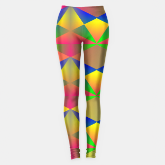 Thumbnail image of Geometric Rainbow Glow  Leggings, Live Heroes