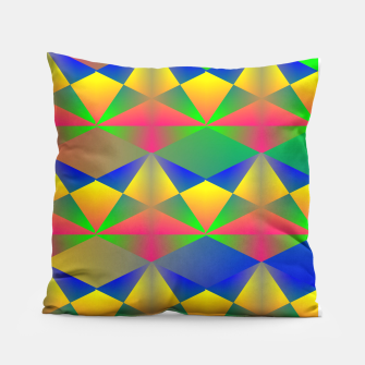 Thumbnail image of Geometric Rainbow Glow  Pillow, Live Heroes