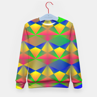 Thumbnail image of Geometric Rainbow Glow  Kid's Sweater, Live Heroes