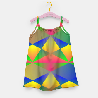 Thumbnail image of Geometric Rainbow Glow  Girl's Dress, Live Heroes