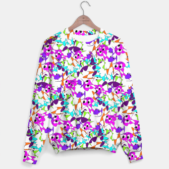 Thumbnail image of Fun Colorful Doodle Scribble Abstract Sweater, Live Heroes