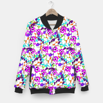 Thumbnail image of Fun Colorful Doodle Scribble Abstract Baseball Jacket, Live Heroes