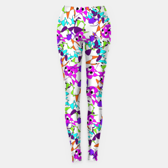Thumbnail image of Fun Colorful Doodle Scribble Abstract Leggings, Live Heroes