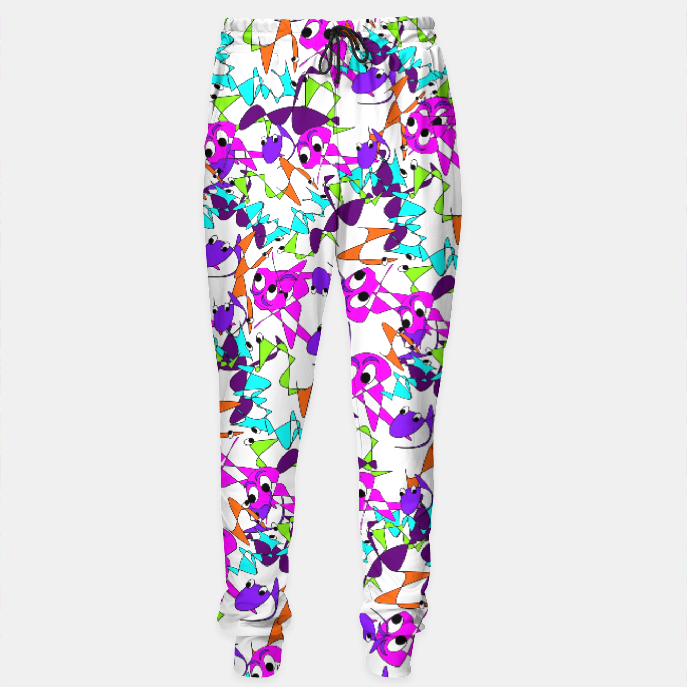 Image of Fun Colorful Doodle Scribble Abstract Sweatpants - Live Heroes