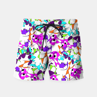 Thumbnail image of Fun Colorful Doodle Scribble Abstract Swim Shorts, Live Heroes
