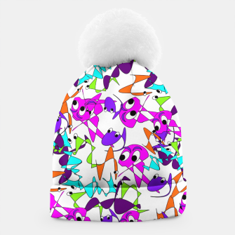 Thumbnail image of Fun Colorful Doodle Scribble Abstract Beanie, Live Heroes