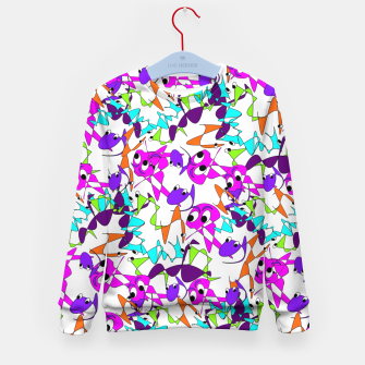 Thumbnail image of Fun Colorful Doodle Scribble Abstract Kid's Sweater, Live Heroes
