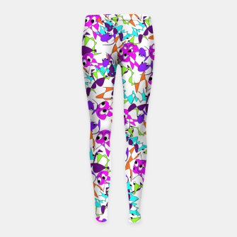 Thumbnail image of Fun Colorful Doodle Scribble Abstract Girl's Leggings, Live Heroes