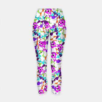 Thumbnail image of Fun Colorful Doodle Scribble Abstract Yoga Pants, Live Heroes