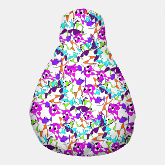 Thumbnail image of Fun Colorful Doodle Scribble Abstract Pouf, Live Heroes