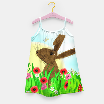 Thumbnail image of Spring Poppy Fields  March Hares Girl's Dress, Live Heroes