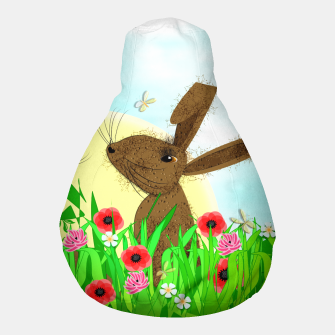 Thumbnail image of Spring Poppy Fields  March Hares Pouf, Live Heroes
