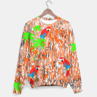 Thumbnail image of Tropical Parrot Jungle Print  Sweater, Live Heroes