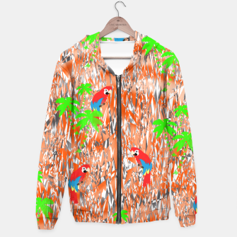 Thumbnail image of Tropical Parrot Jungle Print  Hoodie, Live Heroes