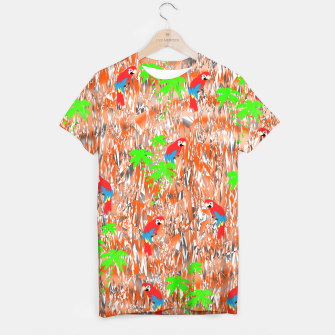 Thumbnail image of Tropical Parrot Jungle Print  T-shirt, Live Heroes