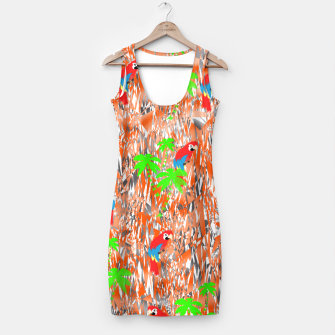 Thumbnail image of Tropical Parrot Jungle Print  Simple Dress, Live Heroes