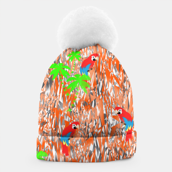Thumbnail image of Tropical Parrot Jungle Print  Beanie, Live Heroes