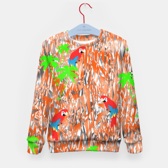 Thumbnail image of Tropical Parrot Jungle Print  Kid's Sweater, Live Heroes