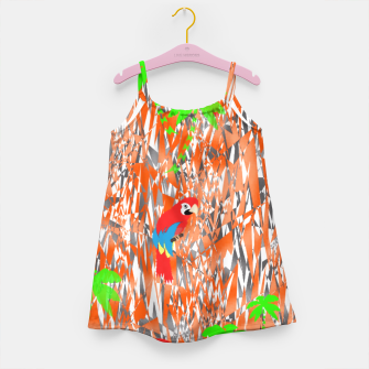 Thumbnail image of Tropical Parrot Jungle Print  Girl's Dress, Live Heroes