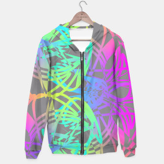 Thumbnail image of Funky Abstract Rainbow Rave Glow Sticks  Hoodie, Live Heroes