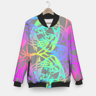 Thumbnail image of Funky Abstract Rainbow Rave Glow Sticks  Baseball Jacket, Live Heroes