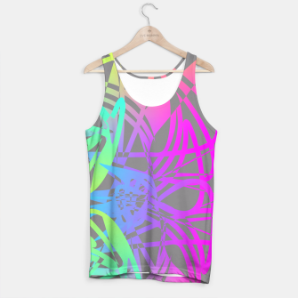 Thumbnail image of Funky Abstract Rainbow Rave Glow Sticks  Tank Top, Live Heroes