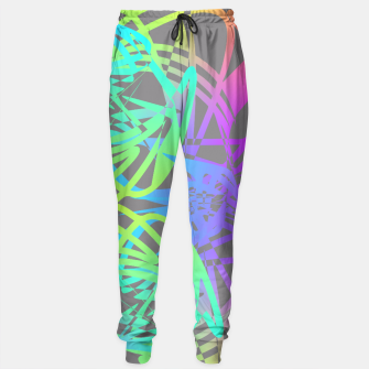 Thumbnail image of Funky Abstract Rainbow Rave Glow Sticks  Sweatpants, Live Heroes
