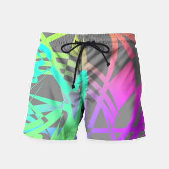 Thumbnail image of Funky Abstract Rainbow Rave Glow Sticks  Swim Shorts, Live Heroes
