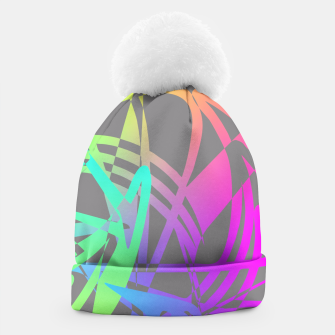 Thumbnail image of Funky Abstract Rainbow Rave Glow Sticks  Beanie, Live Heroes