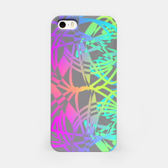 Thumbnail image of Funky Abstract Rainbow Rave Glow Sticks  iPhone Case, Live Heroes