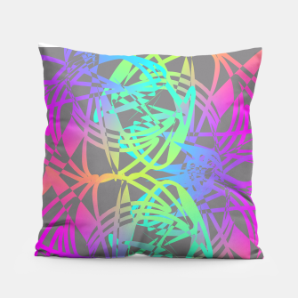 Thumbnail image of Funky Abstract Rainbow Rave Glow Sticks  Pillow, Live Heroes