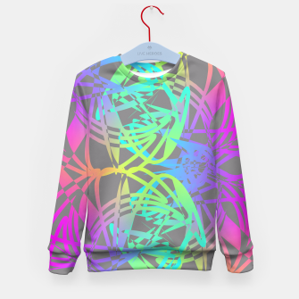 Thumbnail image of Funky Abstract Rainbow Rave Glow Sticks  Kid's Sweater, Live Heroes