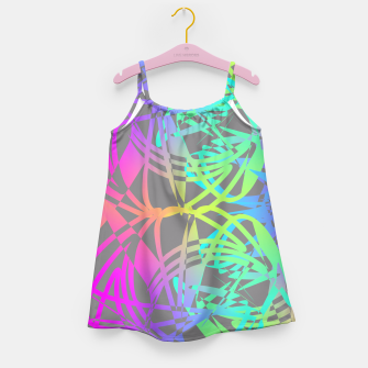 Thumbnail image of Funky Abstract Rainbow Rave Glow Sticks  Girl's Dress, Live Heroes