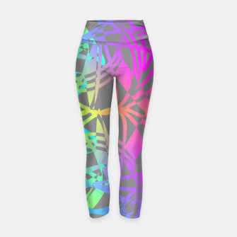 Thumbnail image of Funky Abstract Rainbow Rave Glow Sticks  Yoga Pants, Live Heroes