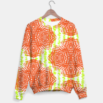 Thumbnail image of Orange Lime Green Floral Vintage Damask Sweater, Live Heroes
