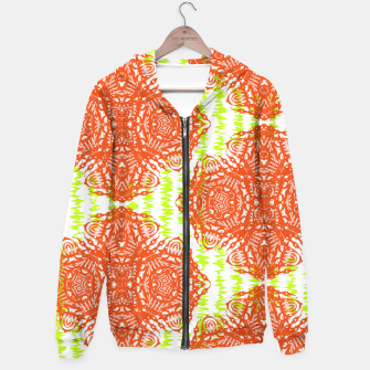 Thumbnail image of Orange Lime Green Floral Vintage Damask Hoodie, Live Heroes