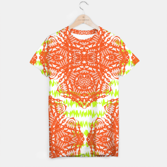 Thumbnail image of Orange Lime Green Floral Vintage Damask T-shirt, Live Heroes