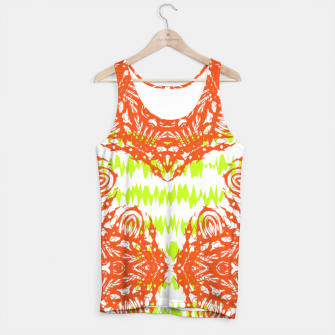 Thumbnail image of Orange Lime Green Floral Vintage Damask Tank Top, Live Heroes