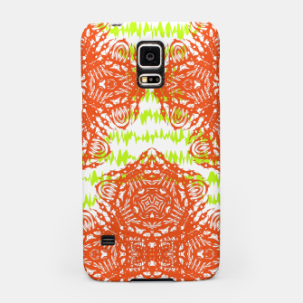 Thumbnail image of Orange Lime Green Floral Vintage Damask Samsung Case, Live Heroes