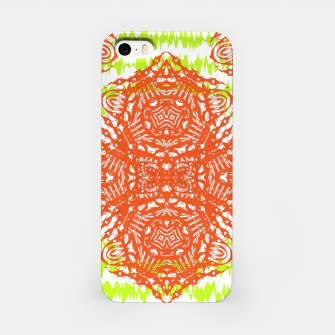 Thumbnail image of Orange Lime Green Floral Vintage Damask iPhone Case, Live Heroes