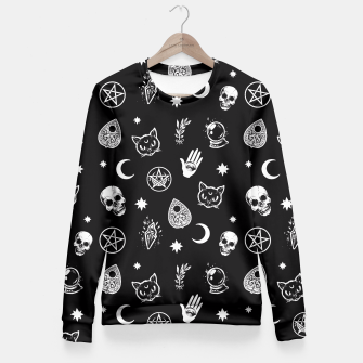 Imagen en miniatura de Witch pattern Fitted Waist Sweater, Live Heroes