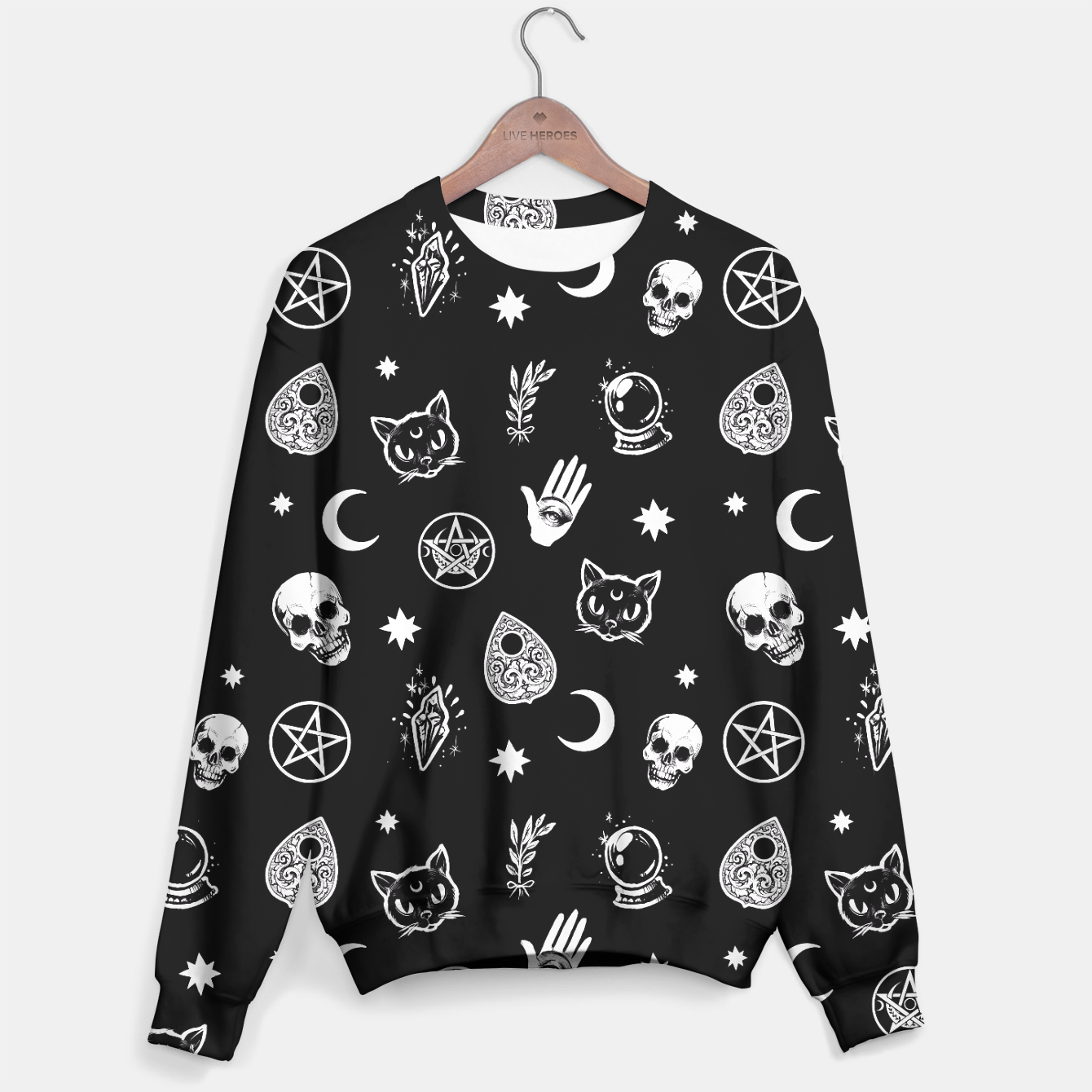 Image of Witch pattern Sweater - Live Heroes