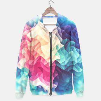 Thumbnail image of Colorful Abstract Geometric Vintage Triangle Pattern Cotton zip up hoodie, Live Heroes