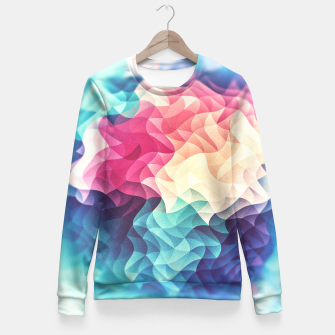 Miniature de image de Colorful Abstract Geometric Vintage Triangle Pattern Woman cotton sweater, Live Heroes